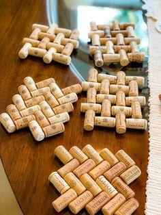 Pin on Wine Cork crafts Pin on Wine Cork crafts Wine Craft, Wine Cork Crafts, Wine Bottle Crafts, Champagne Cork Crafts, Champagne Corks, Wine Cork Trivet, Wine Cork Art, Cork Coasters, Upcycled Crafts