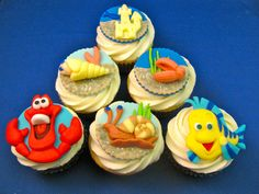 Little Mermaid cupcakes. cutest thing I have ever seen!