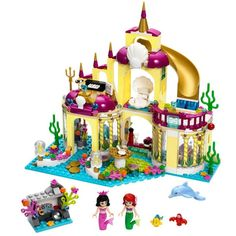 10436 Princesa Sirena Palacio Submarino Modelo Kits Amigas Lepin Edificio Ladrillos Compatibles Juguetes Para Niños Regalo de Cumpleaños