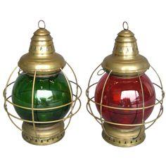 1stdibs   Vintage Nautical lights