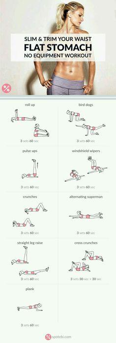 Waist workout #keepyourselffit #exercises #workout #noequipmentneeded #flatstomach .✌
