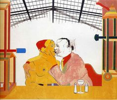 Where the Railroad Leaves the Sea - R. B. Kitaj - WikiArt.org