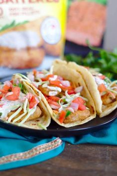 Beer Battered Fish Tacos - This quick and easy fish tacos recipe is so delicious! Beer battered fish, pico de gallo, slaw, and a homemade cilantro lime sauce in a flour tortilla! Fish Recipes, Seafood Recipes, Mexican Food Recipes, Dinner Recipes, Weeknight Recipes, Meal Recipes, Lunch Recipes, Paleo Recipes, Dinner Ideas