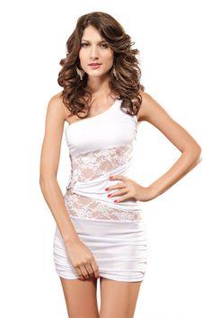 One Shoulder Sheath Mini Dress (US$8.49)