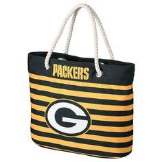 acdffc92648f Green Bay Packers Nautical Stripe Tote Bag Nautical Stripes