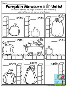 Pumpkin Measurement and TONS of other FUN October printables!