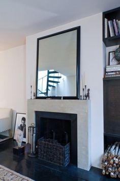 minimal fireplace surround