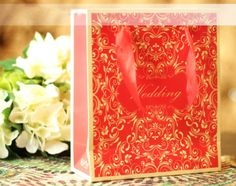 20 Pieces Multi-Paper  red Wedding Party Bags   16071203