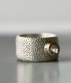 wide band engagment ring unique wedding band by lolide