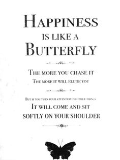 happiness is like a butterfly - amazing