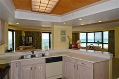Views of the beach while cooking in the kitchen!  Beachside Towers Two 4286 #beachfront #rental #sandestin #myvacationhaven