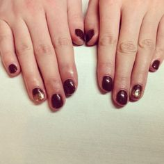 Jessica GELeration Brown Sugar with Time to Sparkle gold glitter. Created by The Salon Coggeshall.