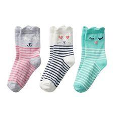 Girls 4-6 Carter's 3-pk. Character Crew Socks, Girl's, Multicolor