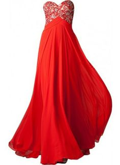 dress red dress long formal gown beads