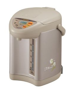 Zojirushi CD-JUC30CT Micom 3 Liter Water Boiler and Warmer, Champagne Gold  The Zojirushi micom water boiler and warmer replaces the CD-JSC30 and is terrific for serving hot beverages, making instant soups and blanching vegetables. It provides up to 101-Ounce 3 liters of hot water for instant coffee, tea, hot chocolate, soups and more. The unit features a micro-computerized temperature-control system and multiple keep-warm temperature settings that include 140, 195, and 208 degrees F..