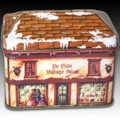 HOUSE-SHAPED-TIN-DE-OLDE-VILLAGE-SHOP-TUDOR-STYLE-BUILDING-CONTAINER