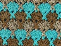 interesting shell stitch