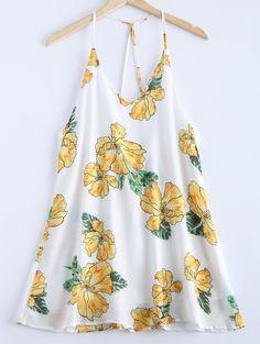 Fashionable V-Neck Spaghetti Strap Print Dress For Women
