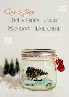 Top 10 DIY Christmas Snow Globes