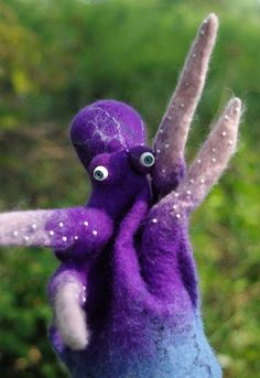 Hand puppet Octopus. Felted octo puppet doll toy sea от DarkaYarka