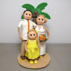 beach theme with daughter wedding cake topper by Clayin Around, via Flickr