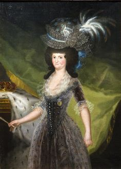 Retrato de la Reina María Luisa (Goya) Arte-Paisaje
