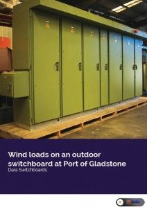 Wind load studies of an outdoor electrical switchboard