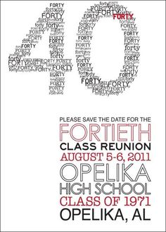 Image result for save the date class reunion
