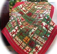Gift Scrapped for Christmas pattern by Sew Karenly Gift Scrapped is a terrific way to use up leftover bits of Christmas fabric. The blocks b...