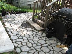: concrete mold walkway