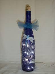 Image result for cobalt blue wine bottle crafts