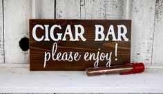 CIGAR BAR 5 1/2 x 11 Self Standing Rustic Wedding Signs von reasons2remember auf Etsy https://www.etsy.com/de/listing/150769971/cigar-bar-5-12-x-11-self-standing-rustic