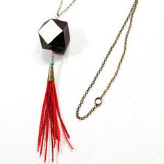 Geometric Flash Necklace Red, $28, now featured on Fab.