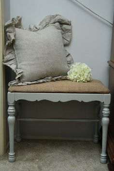 A Bedroom Bench Makeover & New Pillows - Yellow Bliss Road