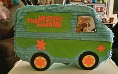 Mystery Machine Pinata I made for my daughters birthday.