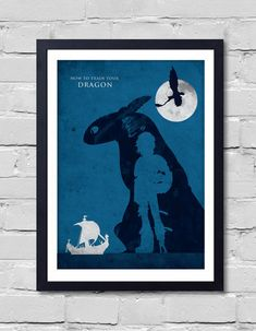 How to Train Your Dragon Minimalist Movie Poster by POSTERSHOT
