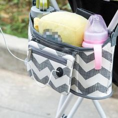 New Canvas Baby Cart Strollers Bag Organizer Basket Pushchair Cup Portable Fashion