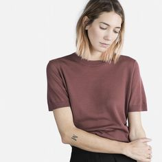 The Short Sleeve Luxe Wool - Rose - Everlane