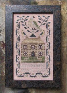 Embroideress Stocking Kathy Barrick Cross Stitch Pattern