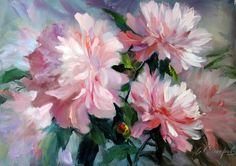 Three peonies 70 x 50 cm – acrylic and oil on canvas. Aesthetic Painting, Oil Painting Flowers, Art Courses, Painting Lessons, Acrylic Art, Botanical Art, Painting Inspiration, Flower Art, Watercolor Paintings