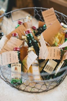 How neat! 'Love Potion' as farewell gifts to all your guests