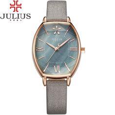 >> Click to Buy << 2016 Julius Brand Rose Gold Creative Women Dress Watch Thin Leather Quartz Watch Vintage Woman Wrist Watches Clock Montre Femme #Affiliate