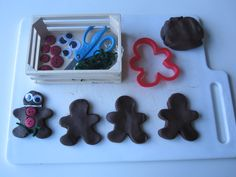 Gingerbread People Playdough for December/holiday play