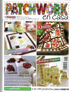 Patchwork en casa 2 - Majalbarraque M. - Picasa Webalbumok Book Crafts, Diy Crafts, Craft Books, Farmers Wife Quilt, Sewing Magazines, Patch Aplique, Applique Fabric, Crochet Magazine, Book Quilt
