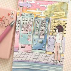 Watercolor Nights tiger shroff new haircut - New Hair Cut Pretty Art, Cute Art, Bel Art, Character Art, Character Design, Character Sketches, Photo Manga, Art Mignon, Arte Sketchbook