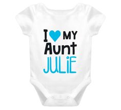I Love My Aunt Personalized Baby One Piece