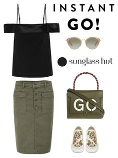 """""""Shades of You: Sunglass Hut Contest Entry"""" by musicfriend1 on Polyvore featuring J Brand, Miu Miu, Dion Lee, Anya Hindmarch, Alexander McQueen and shadesofyou"""