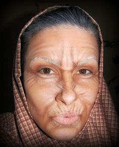 Old lady makeup with only facepaints. | Ideas! | Pinterest | Make ...