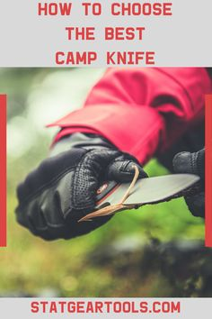 When it comes to packing your camp kit with all the outdoor adventure essentials, you won't want to forget a strong and durable camping knife. Learn how find the right knife for your needs with these easy tips! Survival Knife, Survival Prepping, Survival Gear, Survival Skills, Camping Equipment, Camping Gear, Camping Knife, Things To Come, Good Things