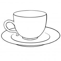 simple coloring pages of tea cups | Tea Cup And Saucer Drawing Sketch Coloring Page | Tea cup ...